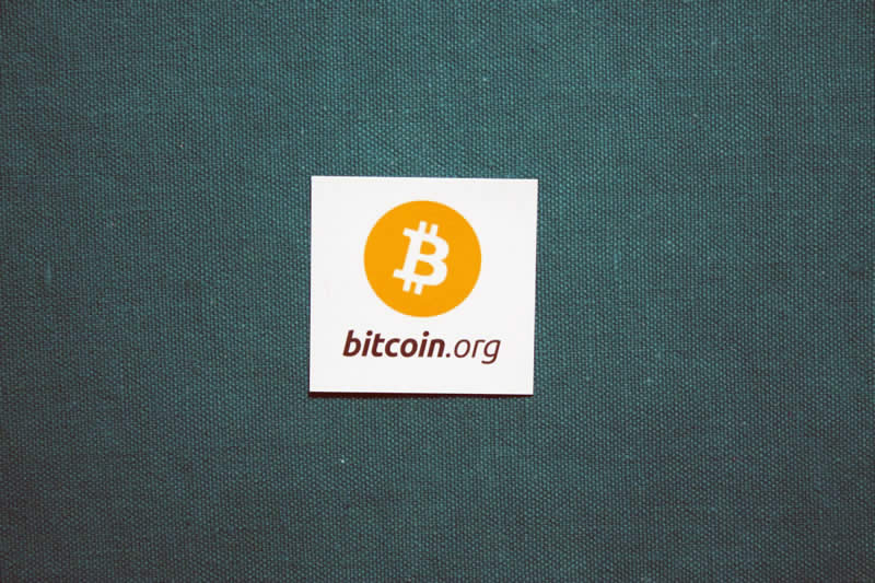 Bitcoin.org square sticker