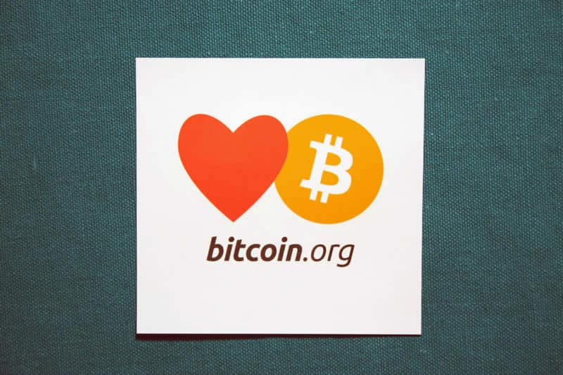Love Bitcoin.org Square Sticker
