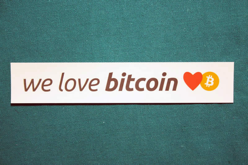 We Love Bitcoin Sticker