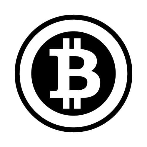 Bitcoin Symbol Black Ring Round Sticker 35mm - BitStickers