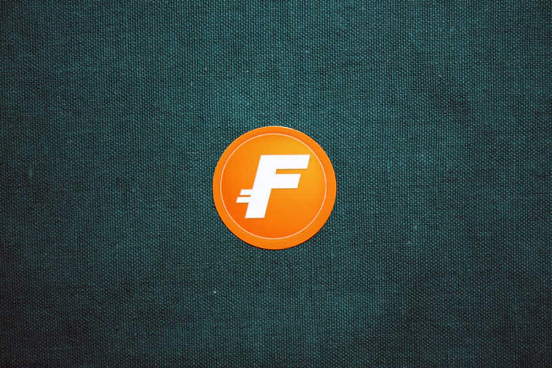 Fastcoin Round Sticker