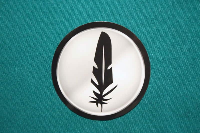 Feathercoin Round Sticker