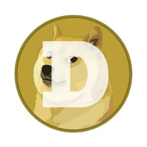 $0.08; Dogecoin Round Sticker 80mm