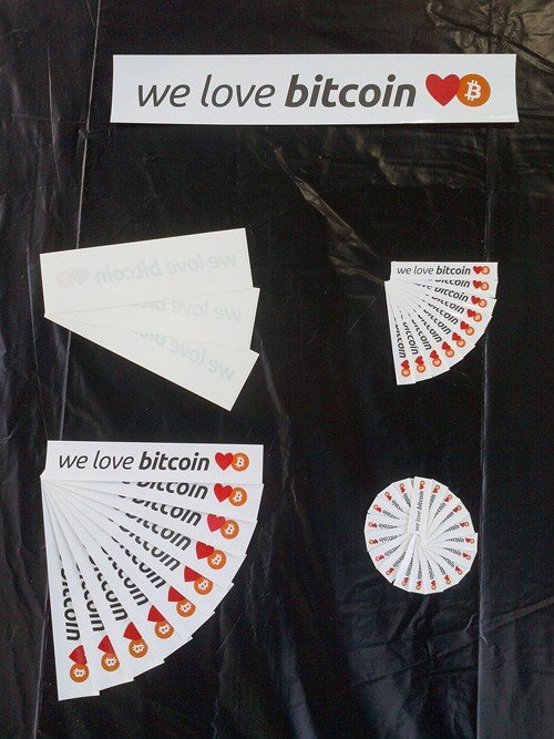 We Love Bitcoin Stickers