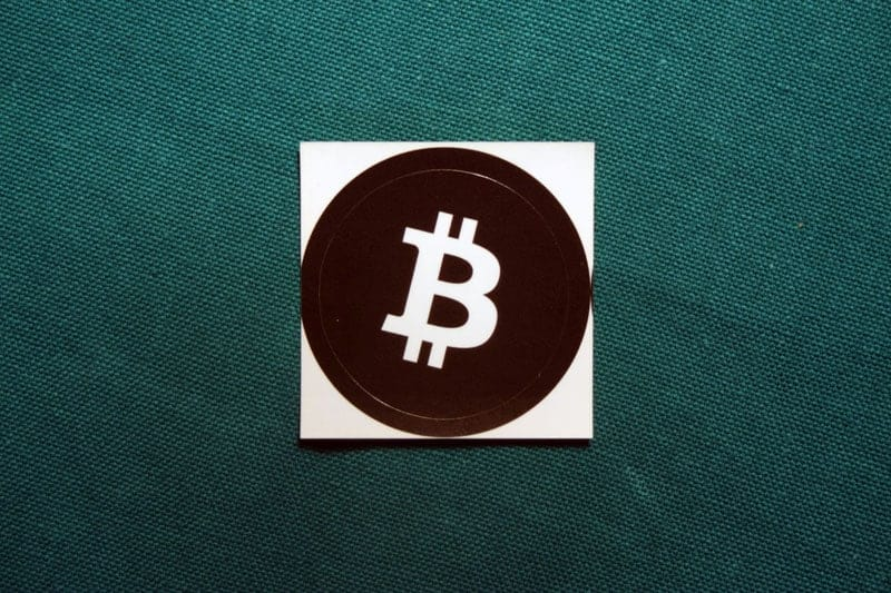 Bitcoin Black Round Sticker