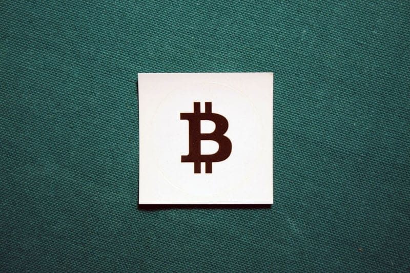 Bitcoin Black Symbol Round Sticker