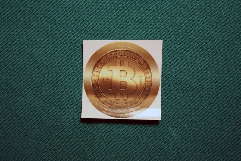 Bitcoin Gold Sticker