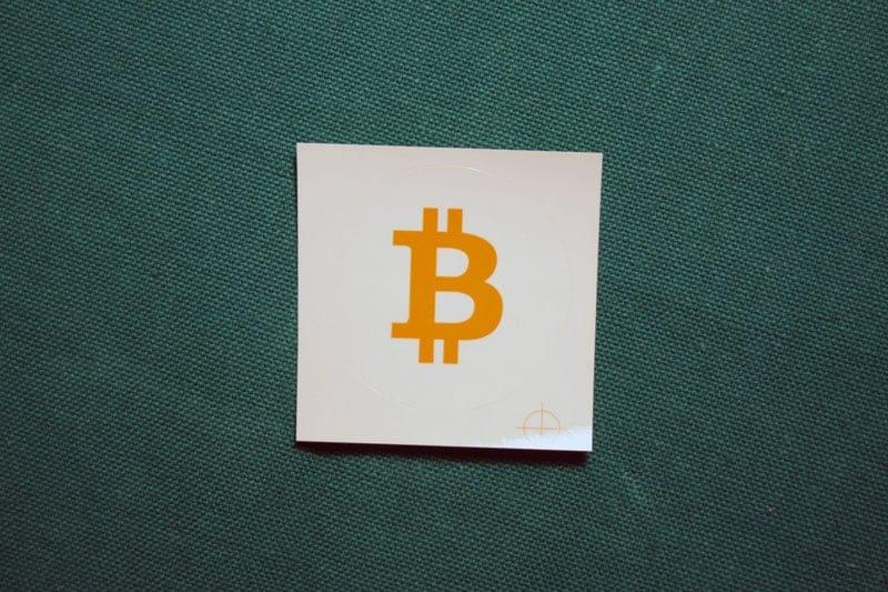 Bitcoin Orange Symbol Round Sticker