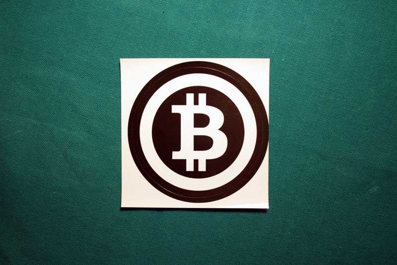 Bitcoin Symbol Black Ring Round Sticker