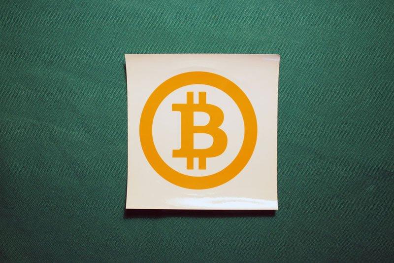 Bitcoin Symbol Orange Simple Ring Round Sticker