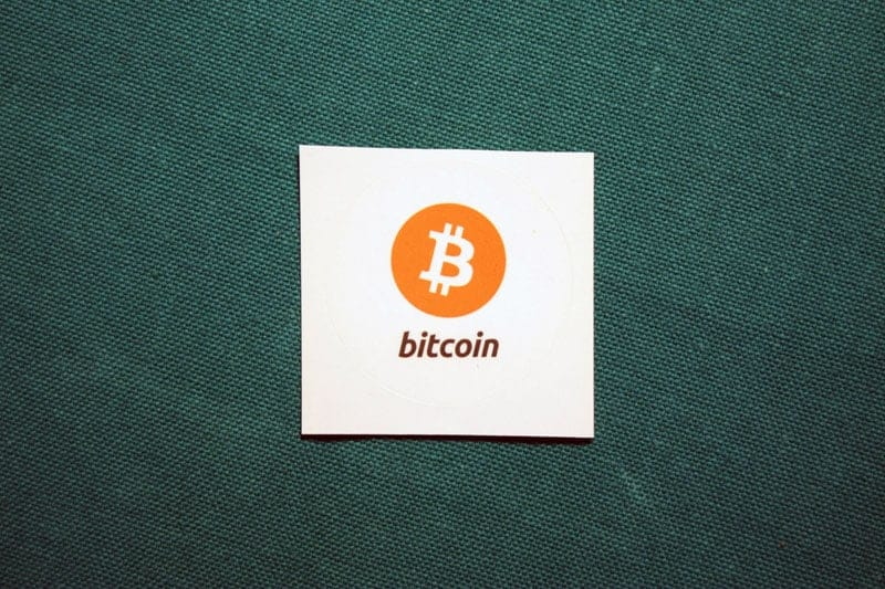 Bitcoin With Logo Round Sticker