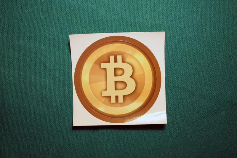 Bitcoin Gold Vector Round Sticker