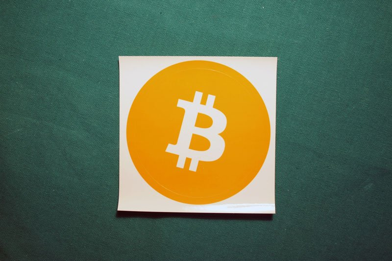 Bitcoin Sticker Orange Round