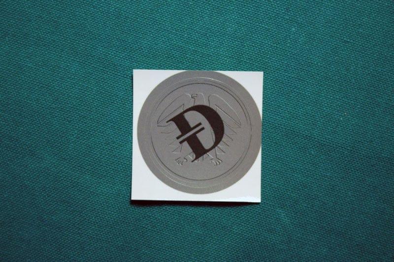 Deutsche eMark Round Sticker