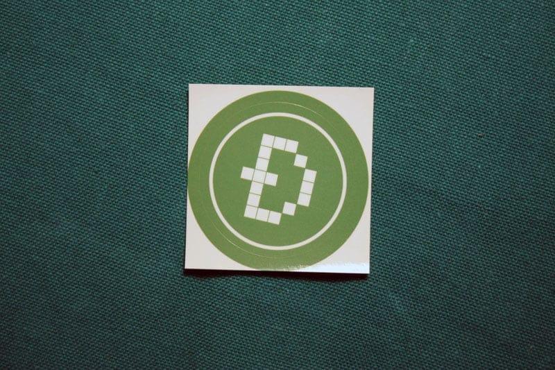 Devcoin Round Sticker