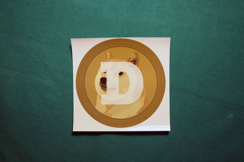 Dogecoin Round Sticker