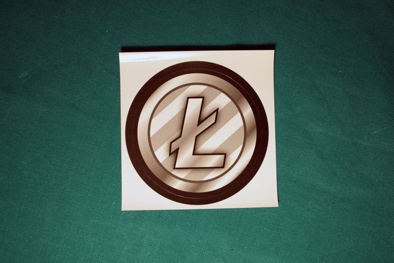 Litecoin Round Sticker