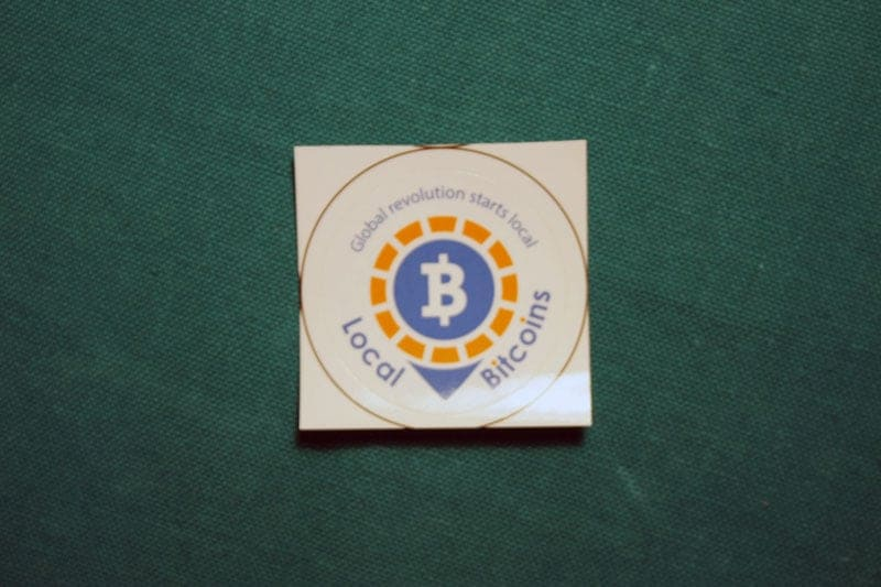 Local Bitcoins Round Sticker