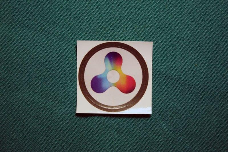 Quarkcoin Round Sticker