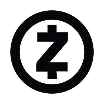 ZCash Round Black/White Sticker