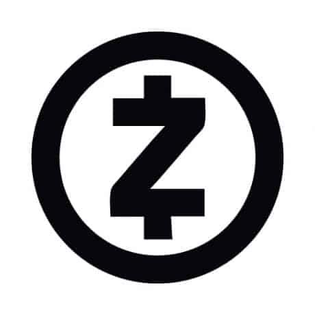ZCash Round Black/White Sticker