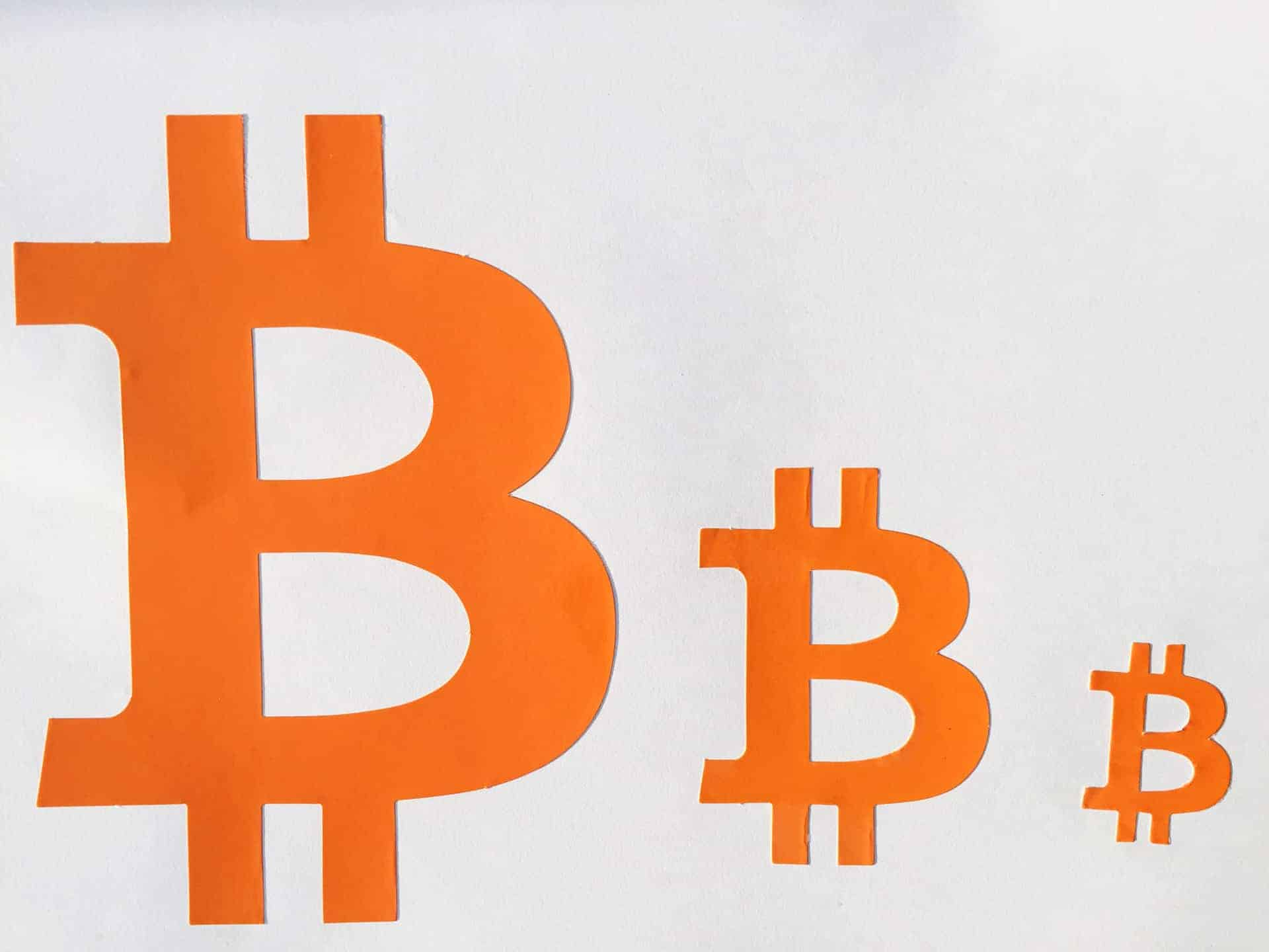 Bitcoin Orange Sign Perforated Sticker 40mm