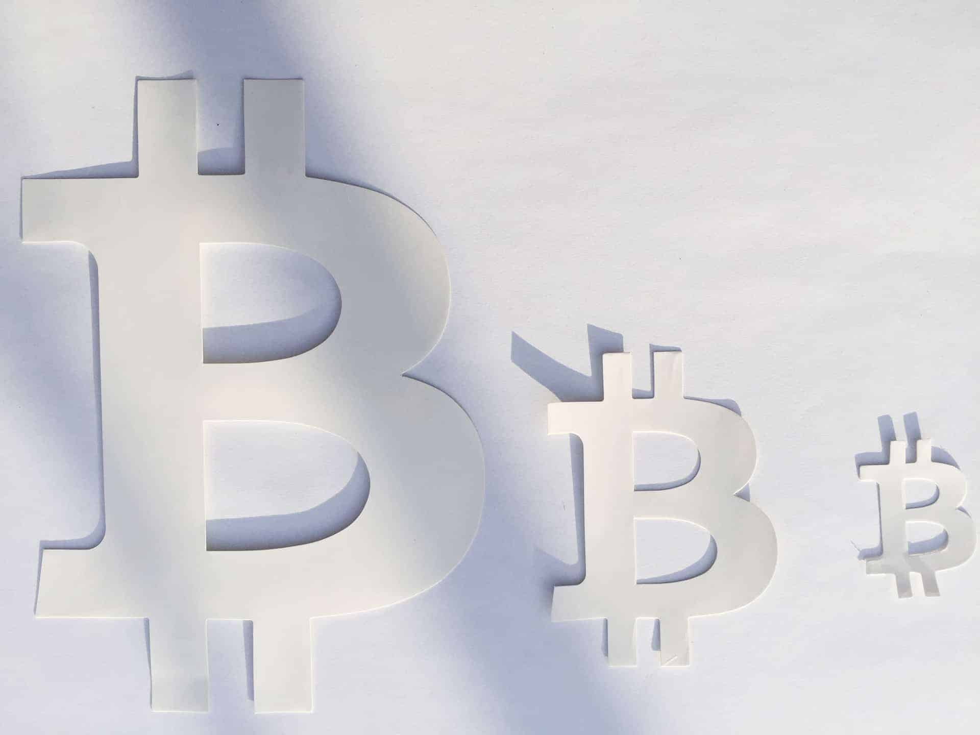 Bitcoin White Sign Perforated Sticker 160mm