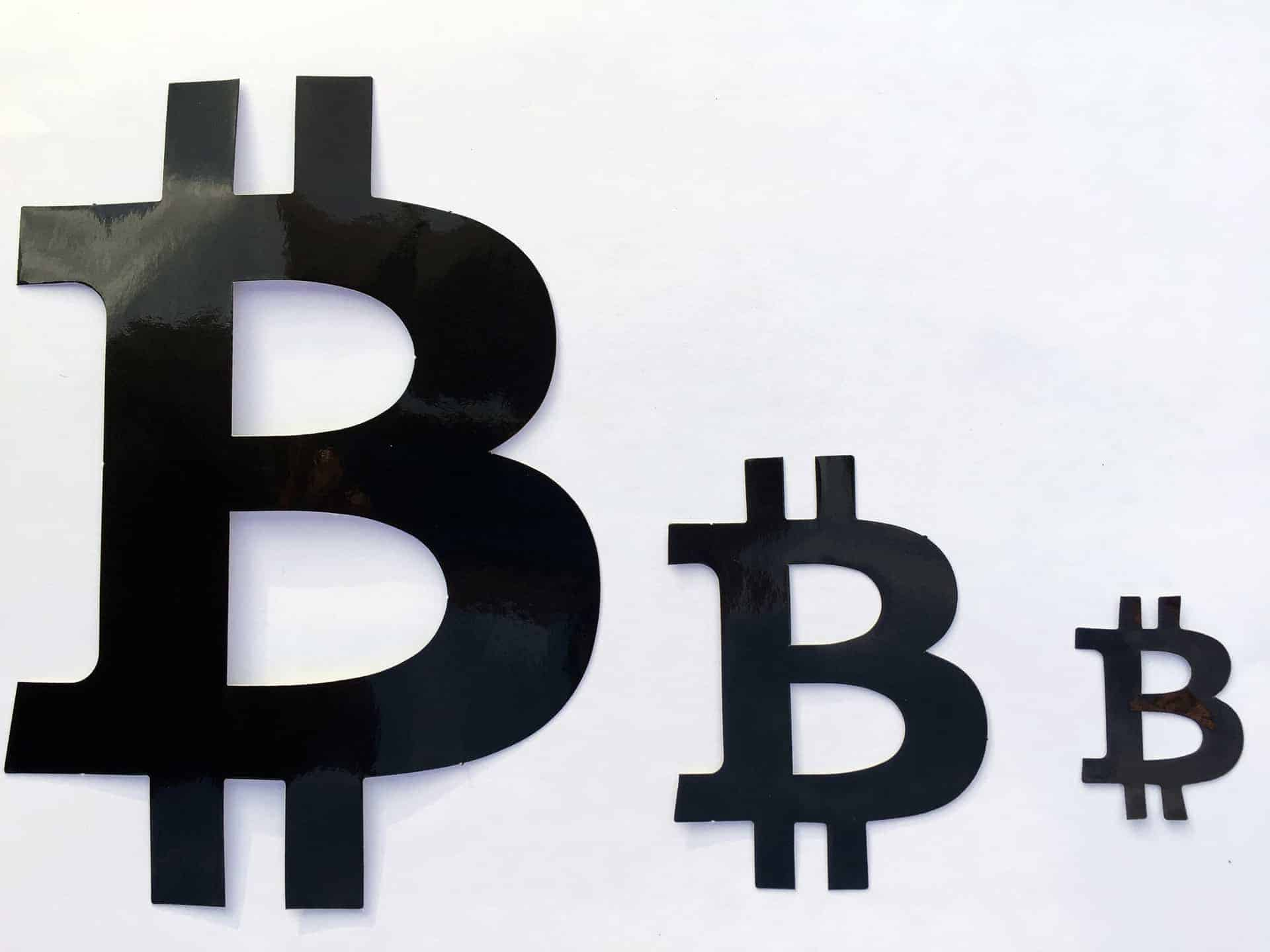 Bitcoin Black Sign Perforated Sticker 160mm